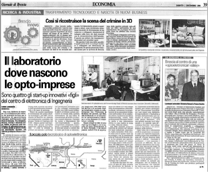 giornale di brescia 2-12-2006
